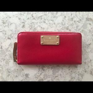 Kate Spade Pink Zip-Around Wallet